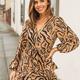 Very J Zebra Print Wrap Dress