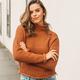 She & Sky Long Sleeve Turtleneck Sweater Top
