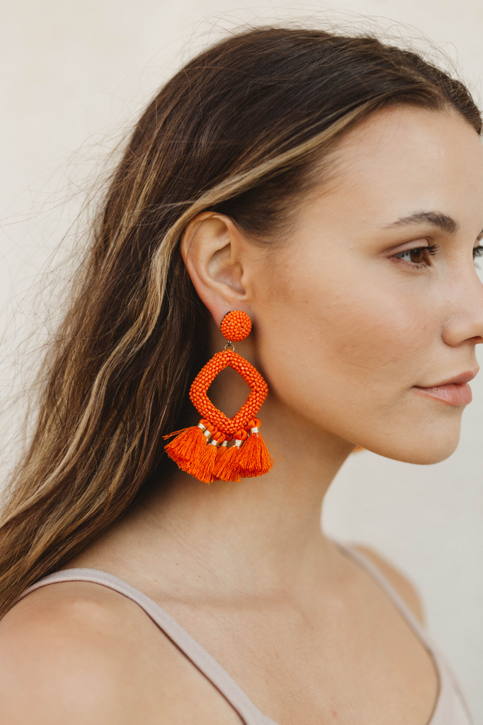 Tassel Rhombus Earrings