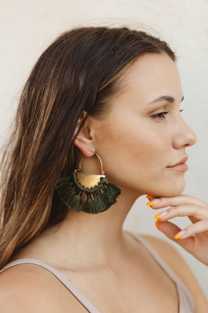 Wedge & Tassel Earrings