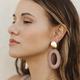 Thread and Thread Oval Earrings