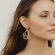 Resin Disc and Hexagon Earrings