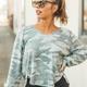 Z Supply Plira Camo Slub Sweater Top
