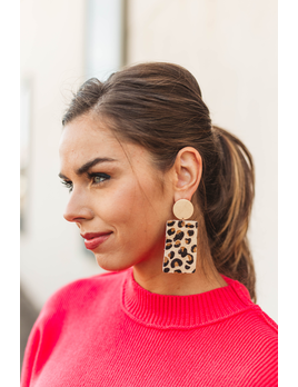 Beverly Rectangle Animal Print Earring