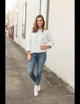 She & Sky Confetti Mixed Yarn Sweater