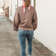 Glam Oversized Sweatshirt with Shoulder Detail