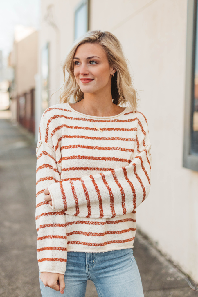 By Together Striped Oversized Knit Sweater