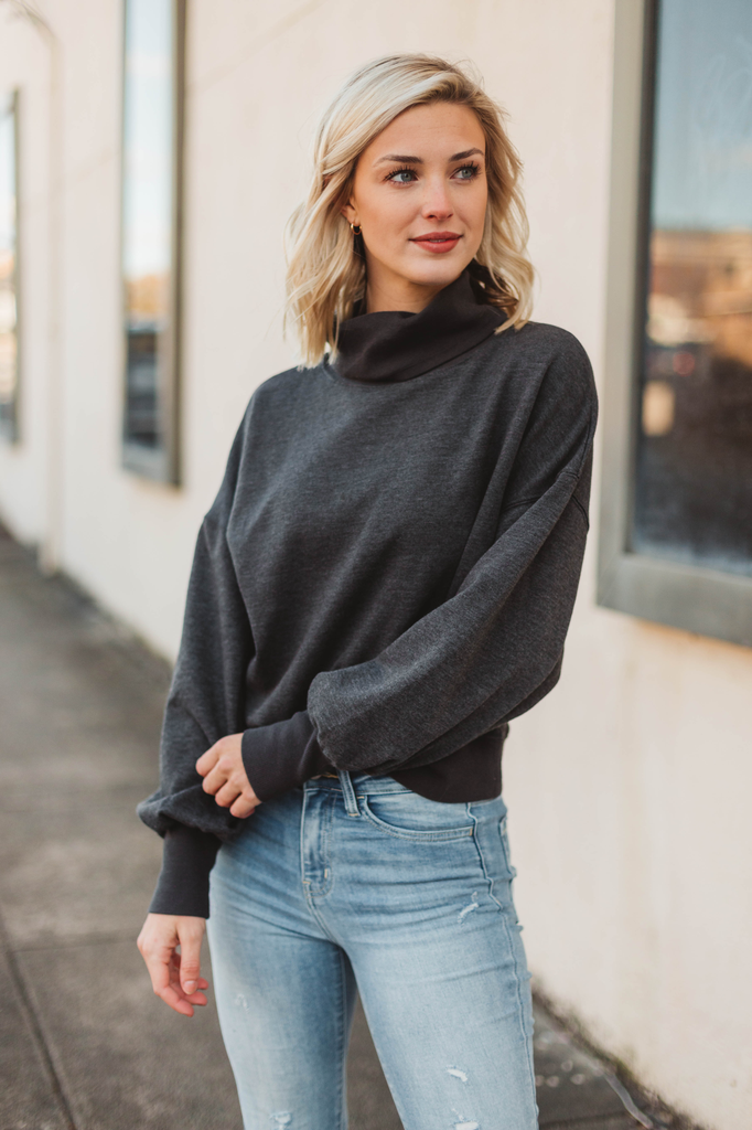 Z Supply Ellis Mock Pullover Sweatshirt