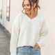 She & Sky Chenille V-Neck Knit Sweater Top