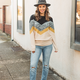 Color Block Casual Sweater Top