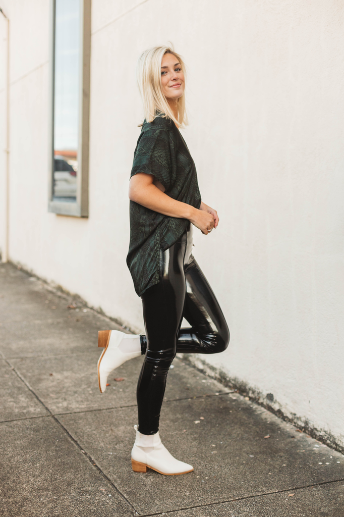 Faux Leather Patent Leather Leggings