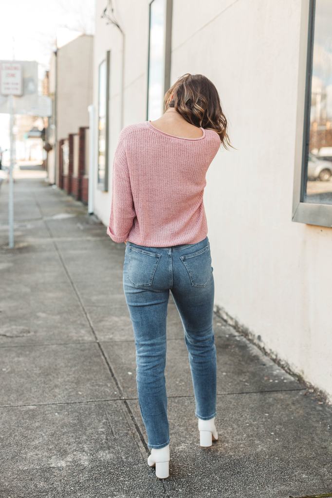 Blu Pepper Drop Shoulder Sweater Top
