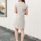 She & Sky Drop Shoulder Washed Button Down Shirt Dress