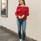 Batwing Off Shoulder Sweater