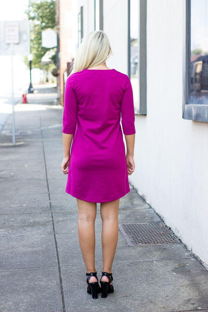 Shale Lace Up Shift Dress