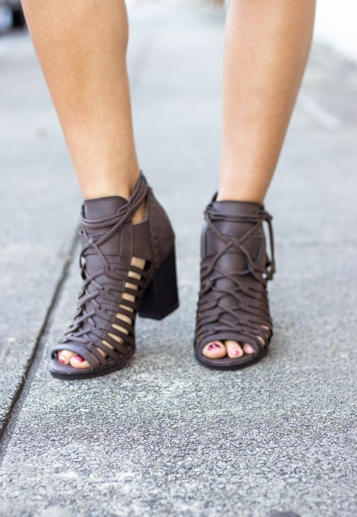 Vault Open Toe Ankle Booties