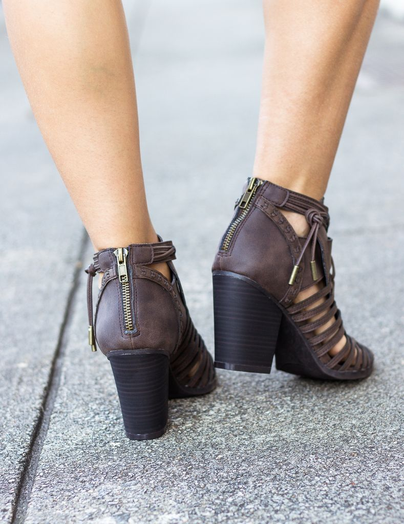 Vault Open Toe Ankle Booties