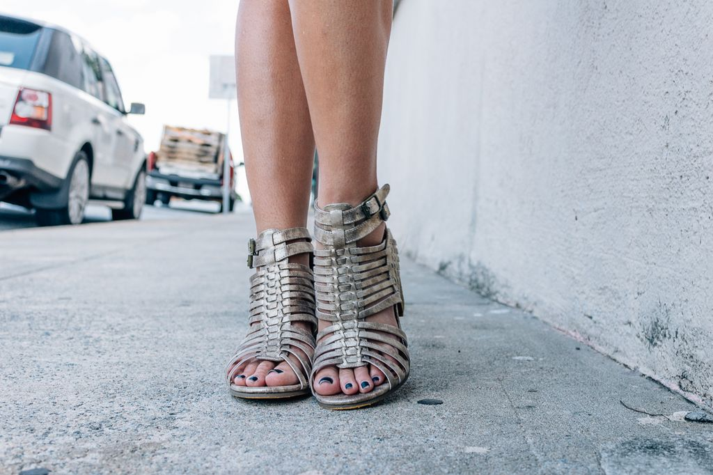 Not Rated Ofanto Woven Block Heel Sandal