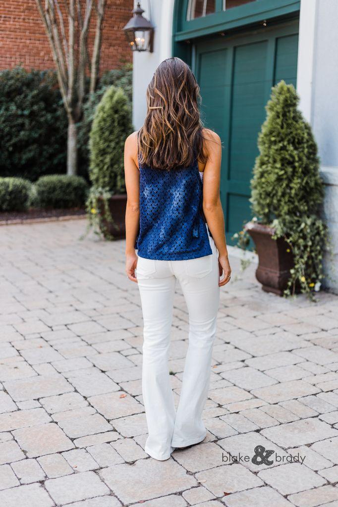 Karlie Crochet Gauze Apron Tie Top