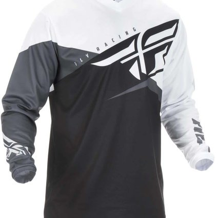 Fly Racing 2019 Fly Racing F-16 Adult Black/White/Grey Jersey