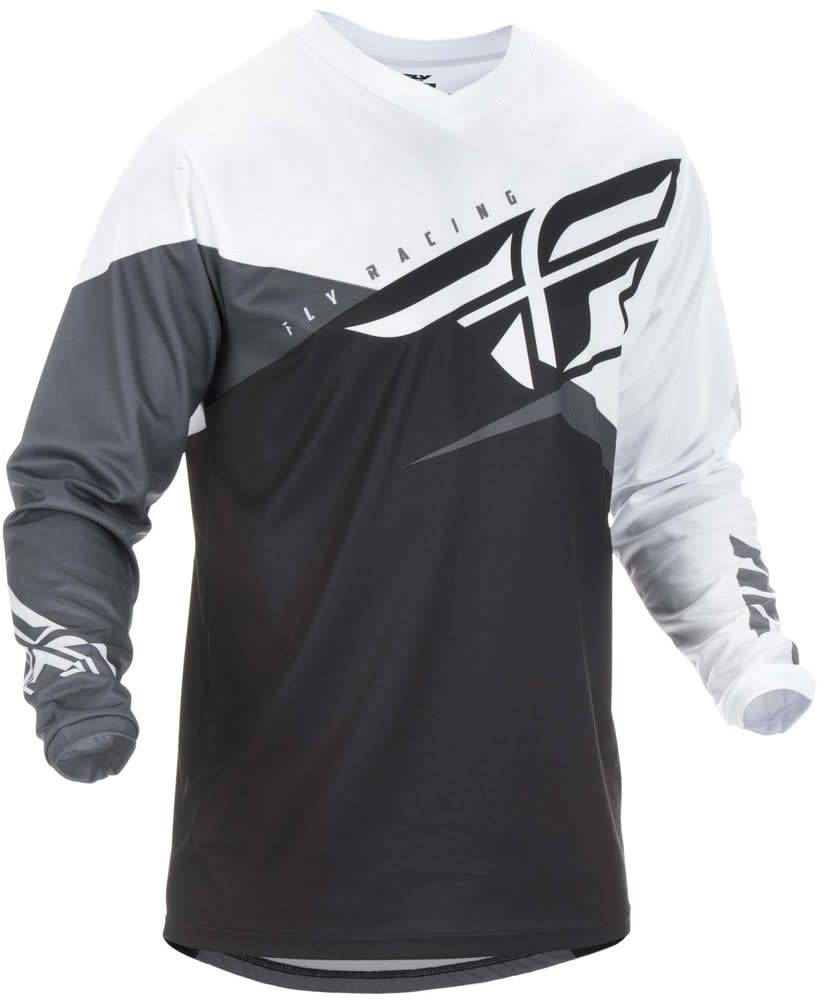 Fly Racing 2019 Fly Racing F-16 Adult Black/White/Grey Jersey Medium