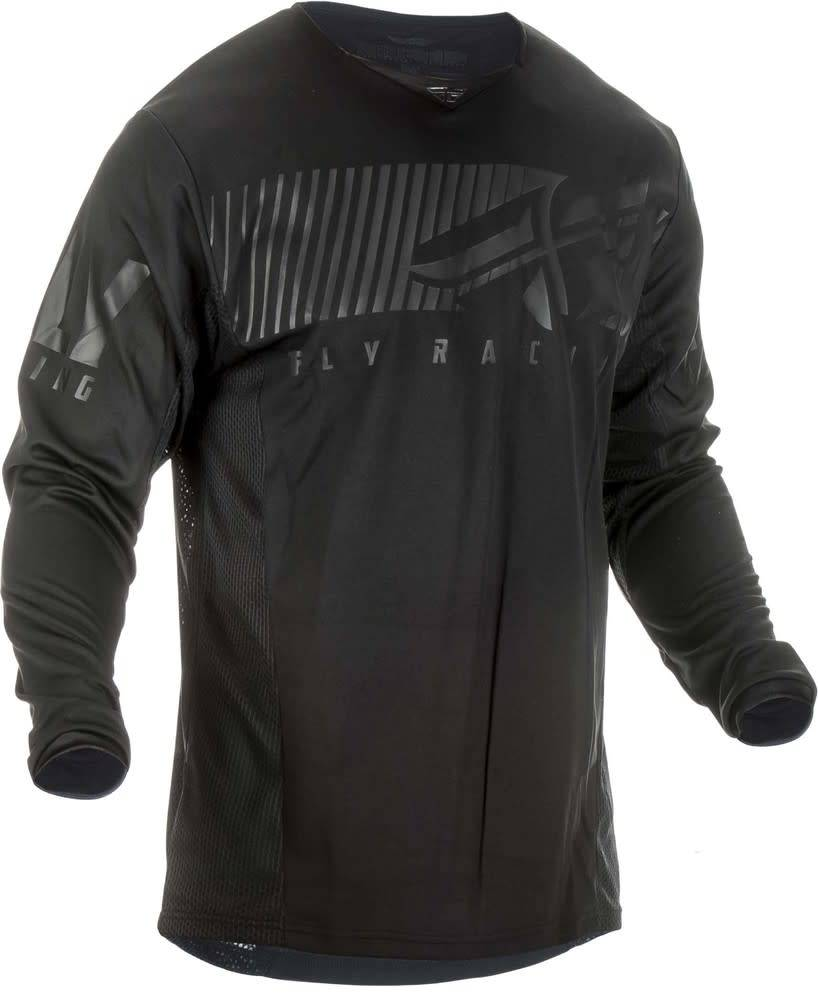 Fly Racing 2019 Fly Racing Kinetic Shield Youth Black Jersey