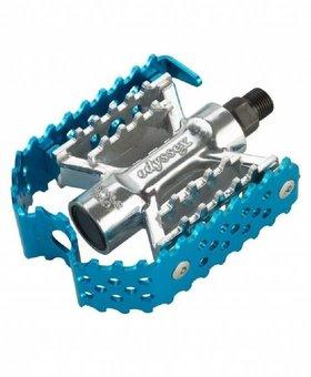 "Odyssey Odyssey Triple Trap 1/2"" Blue Pedals"