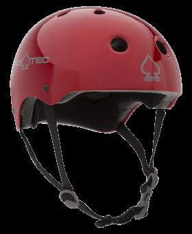 Pro-Tec Pro-tec Classic (Certified) Red Metal Flake Helmet