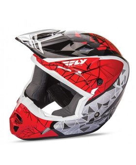 Fly Racing 2018 Fly Racing Kinetic Crux Red/Black/White Adult Helmet
