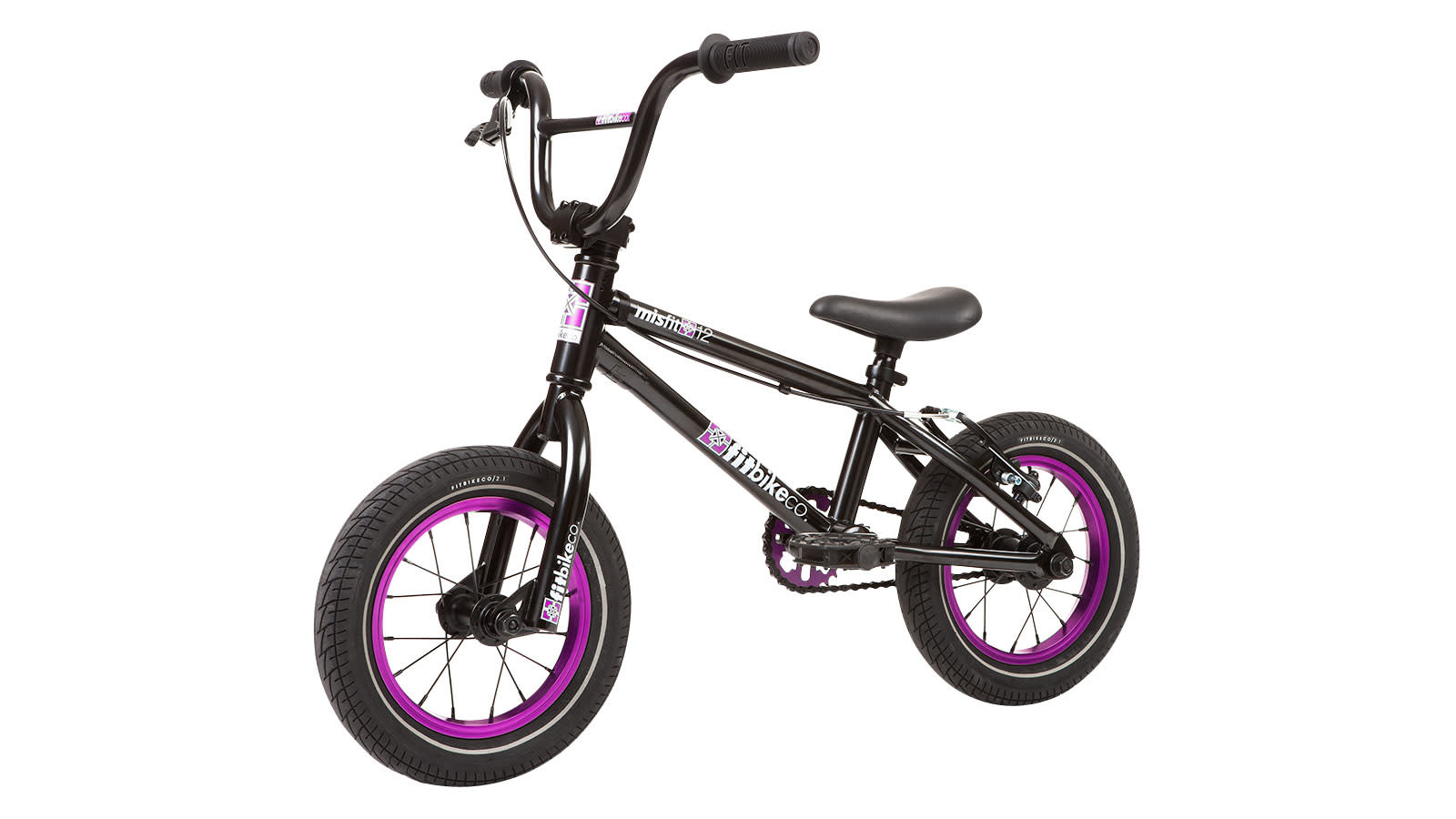 "Fit 2020 Fit Misfit 12"" Black/Purple Bike"