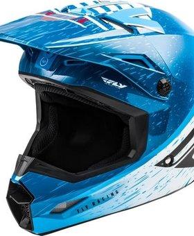 Fly Racing 2020 Fly Racing Kinetic K120 Adult Blue/White/Red Helmet