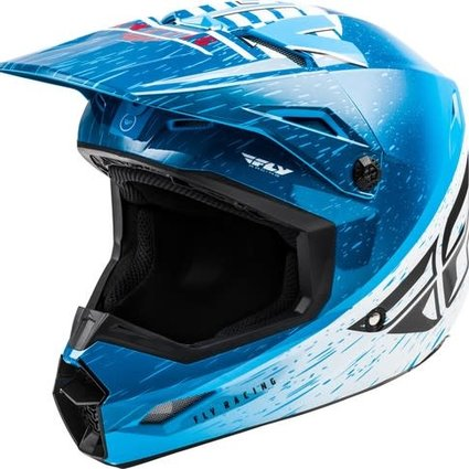 Fly Racing 2020 Fly Racing Kinetic K120 Adult Blue/White/Red Helmet