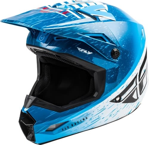 Fly Racing 2020 Fly Racing Kinetic K120 Youth Blue/White/Red Helmet