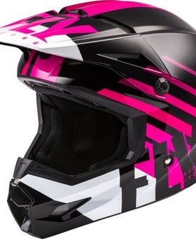 Fly Racing 2020 Fly Racing Kinetic Thrive Youth Pink/Black/White Helmet
