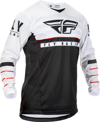 Fly Racing 2020 Fly Racing Kinetic K120 Adult Black/White/Red Jersey