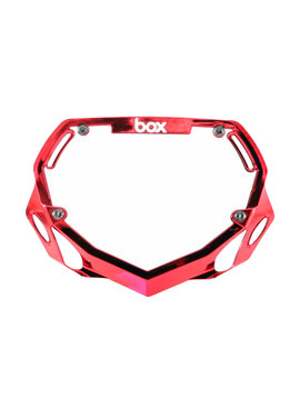 Box Components Box Two Pro Red Chrome Number Plate