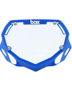Box Components Box Two Pro Blue Trans Number Plate