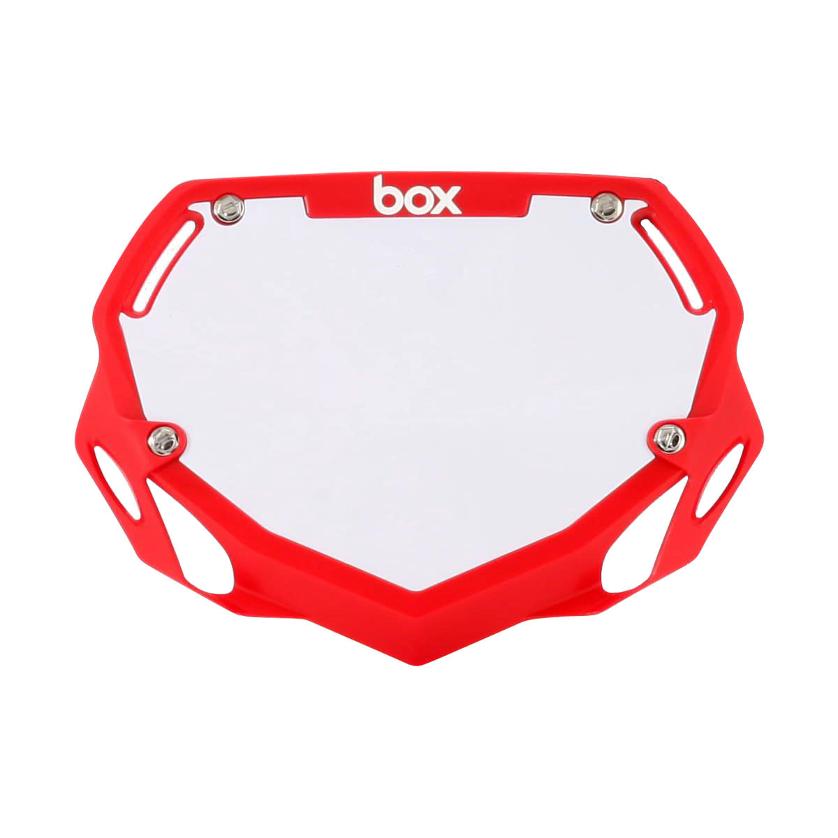 Box Components Box Two Pro Red Number Plate
