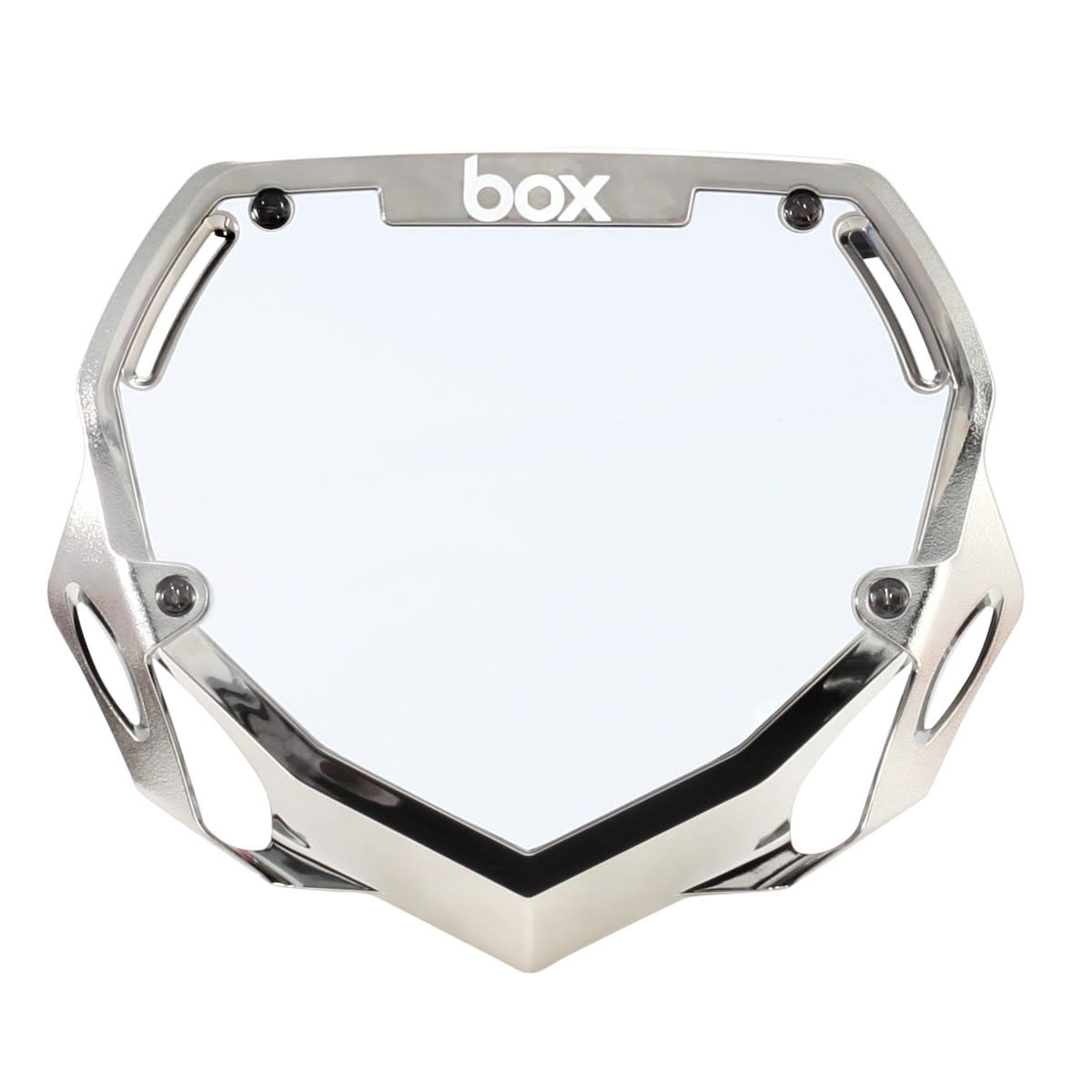 Box Components Box Two Mini Black Chrome Number Plate
