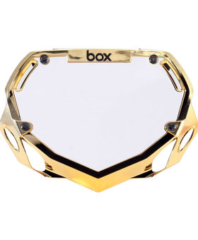 Box Components Box Two Mini Gold Chrome Number Plate