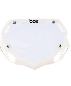 Box Components Box Two Mini White Number Plate