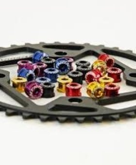 Tangent Products Tangent Chainring Bolts Red (Pack)