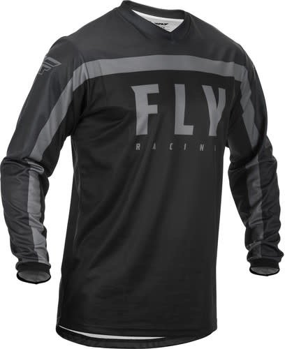 Fly Racing 2020 Fly Racing F-16 Adult Black/Grey Jersey