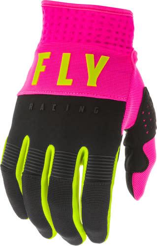 Fly Racing 2020 Fly Racing F-16 Adult Pink/Black/Hi-Vis Gloves