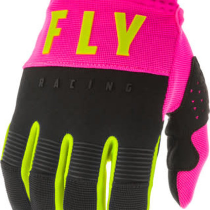 Fly Racing 2020 Fly Racing F-16 Youth Pink/Black/Hi-Vis Gloves