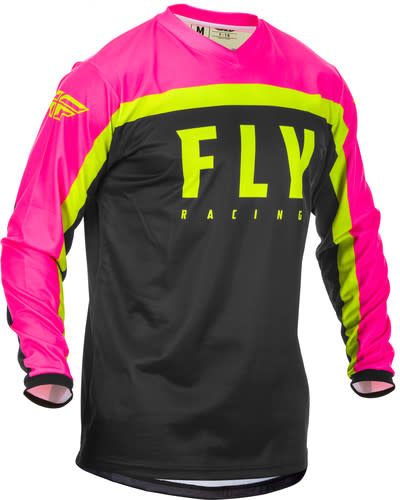 Fly Racing 2020 Fly Racing F-16 Adult Pink/Black/Hi-Vis Jersey