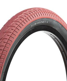 """Fit 20x2.4"""" Fit Bike Co Red w/Black Sidewall Tire"""