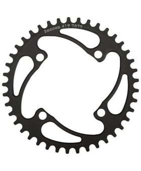 Rennen Rennen 4-Bolt Threaded 49.0T Black Chainring