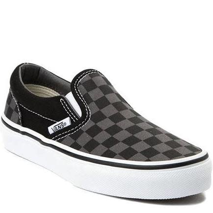 Vans Vans Kids Slip-on Checkerboard Black/Pewter Shoes