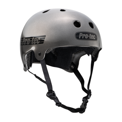 Pro-Tec Pro-tec Old School (Certified) Matte Metallic Gun Metal Medium Helmet